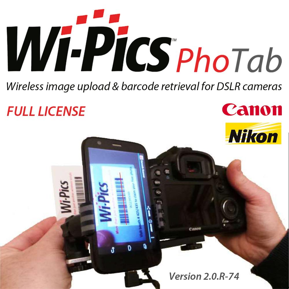 WiPics™ PhoTab wireless upload & barcode retrieval – single
