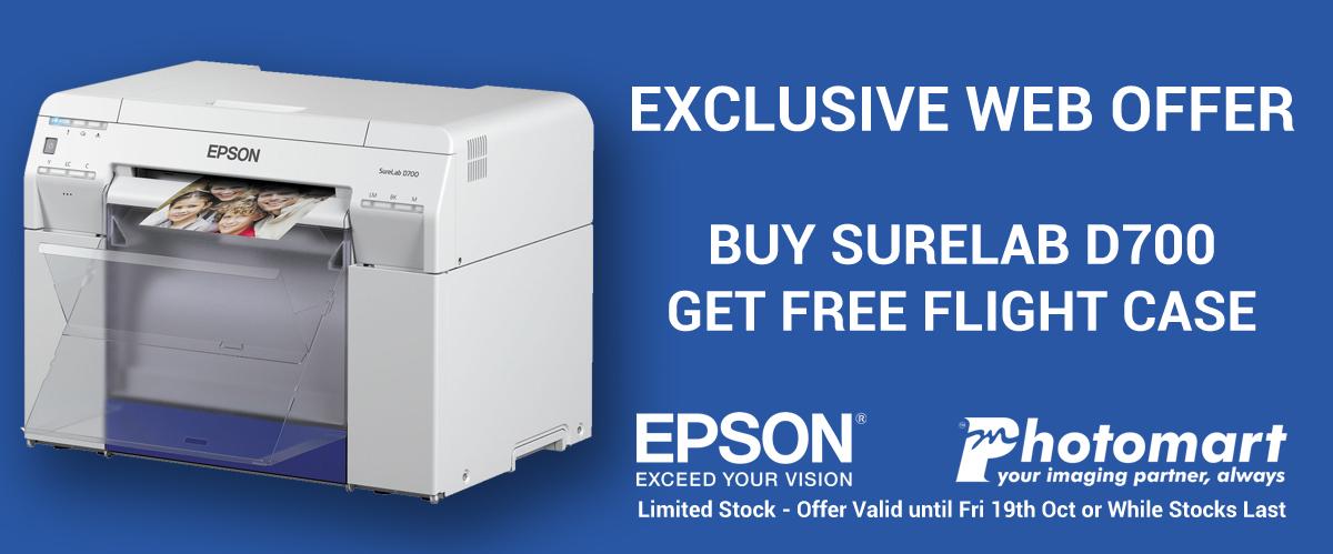 Buy Epson Surelab D700 get Free Flight Case